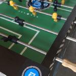 Custom branding on Tornado commercial foosball table from Video Amusement