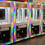 4 crane games with corporate branding