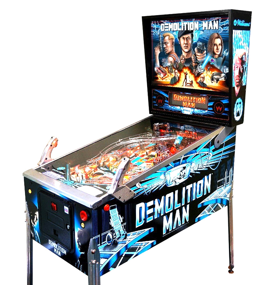 Demolition Man Pinball Machine - Take a trip to the future with Williams' Demolition Man.