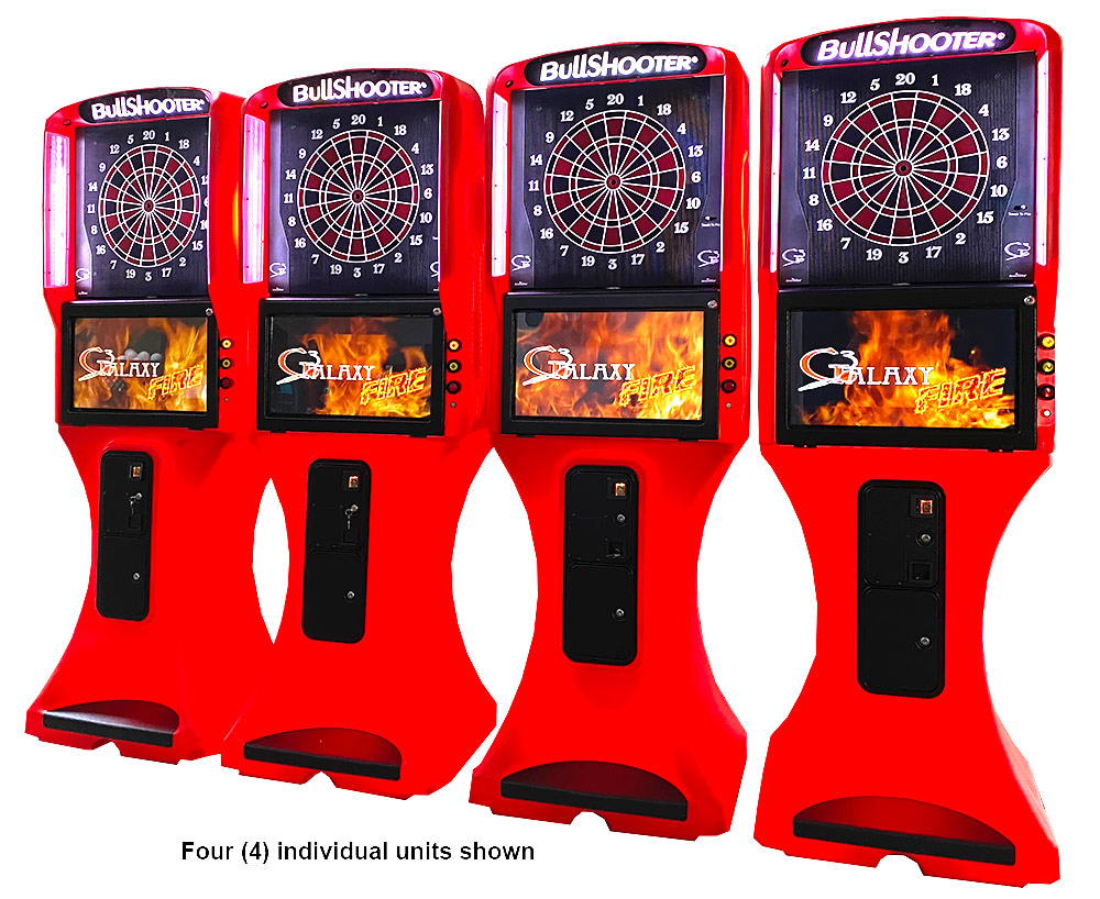 Four LED Glowing Dart Board Arcade Game rental San Jose Bay Area