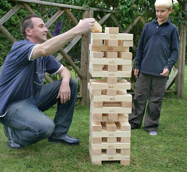 Ordinaire Giant Jenga U2013 Tumble Tower Game Consists Of 56 Soft Pine Or Cedar Wood  Blocks. These 56 Blocks Create A 19 Level Tower Standing Almost 3 Feet Tall  At The ...