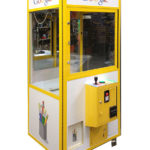 Google branded claw prize crane game for rental event from Video Amusement