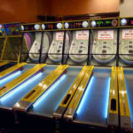 Interactive Classic Skeeball Arcade Games at rental venue in Los Angeles