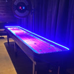 LED Glowing Shuffleboard Arcade Game rental San Francisco