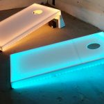 Illuminated bean bag toss game.