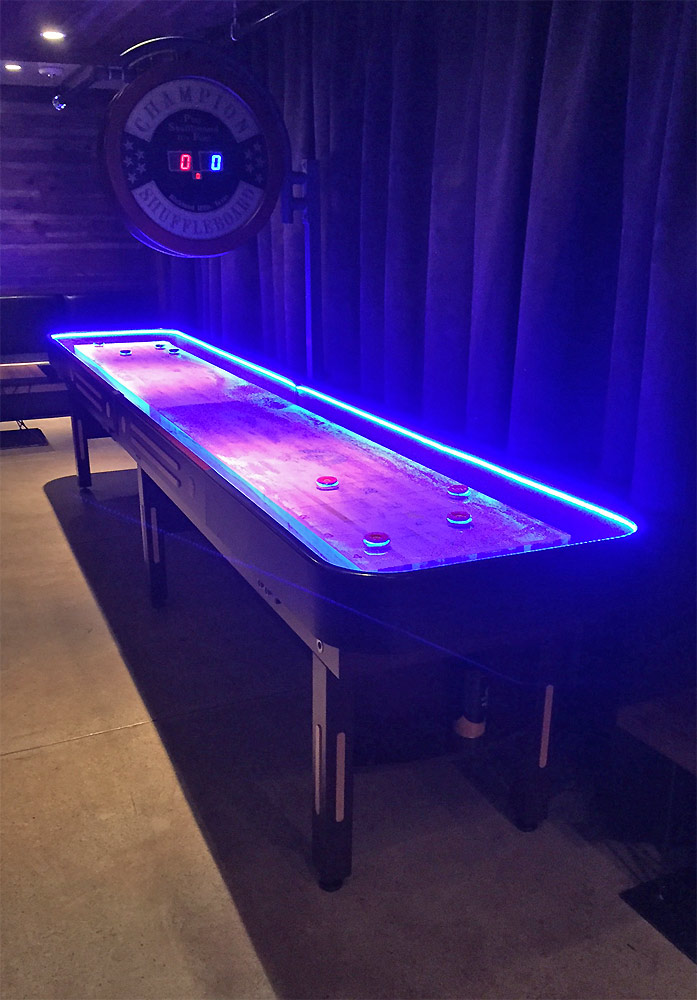Video Amusement Rents Two Sizes Of Shuffleboard Tables 14 Or 22 Foot  Original Grand Champion Shuffleboard Manufactured By Americau0027s #1  Shuffleboard ...