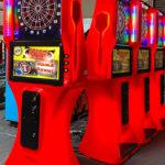 LEd Glowing Dart Board Arcade Game rental