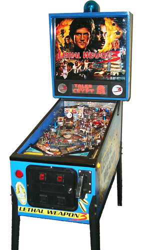 Lethal Weapon 3 pinball - action based on the popular movie of the same name.