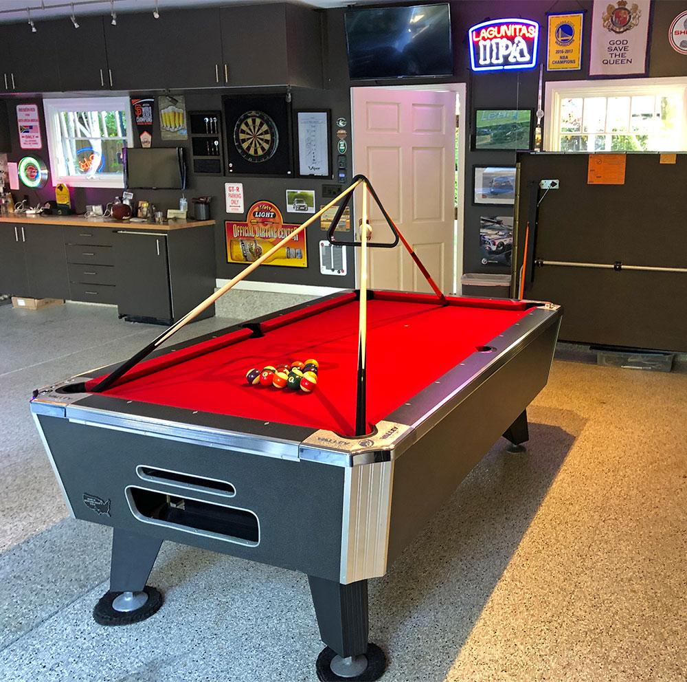 Pool Table Billiards Vallye Dynamo Game Rental Video