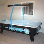 Photon Dynamo Air Hockey Table - game set up in the home rec room