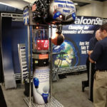 Punch Bag Boxer Machine Branded for Trade Show Rental from Video Amusement