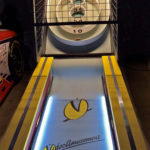 Rented Skeeball Classic Arcade Game with Video Amusement Logo