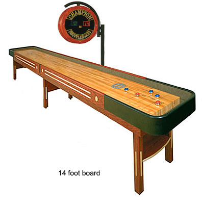 Shuffleboard table 14 foot rental San Jose