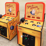 Take a Whack Carnival Arcade Game with branding for a rental Trade Show in Las Vegas Nevada