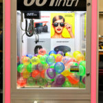 Popular option for promotional events to dispense 4 inch balls with prizes inside.