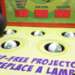 Whac a Lamp Carnival Game for Texas Instrument rental event in San Diego from Video Amusement