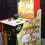 Whac a Lamp Game Branded for Texas Instrument rental event in San Diego