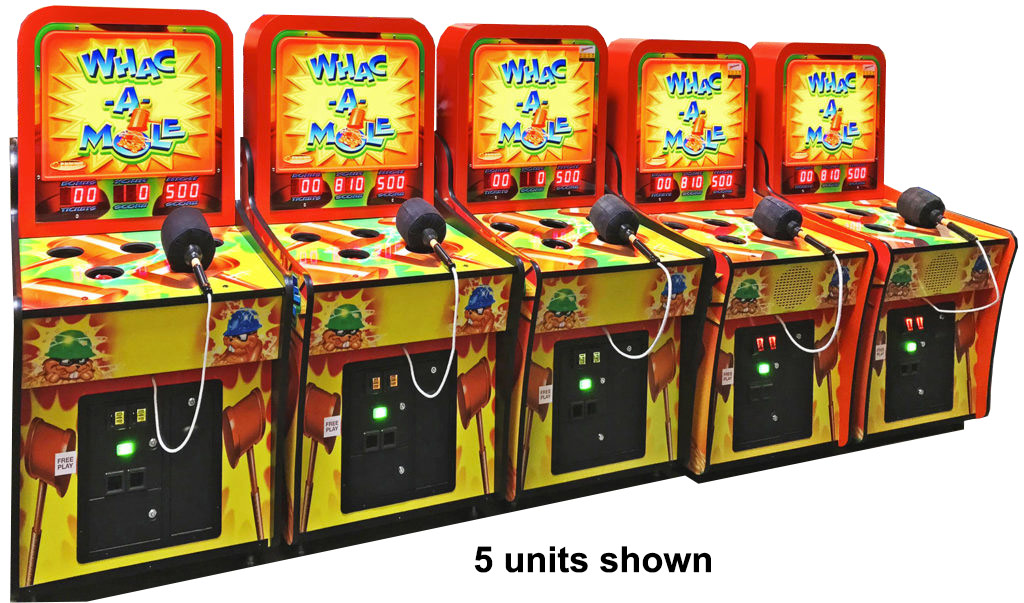 Whac a Mole Arcade Game 5 Units for rental from Video Amusement