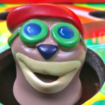 Whac a Mole Carnival Game with detail of Original Head by Bob Space Racers