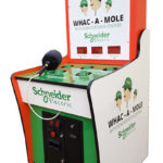 Whac a Mole Carnival Interactive Game Branded for Schneider Electric Rental from Video Amusement