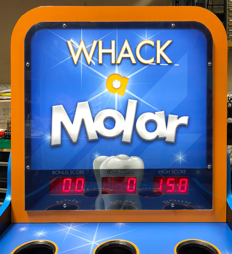 Whack-a-Molar-branded-game-for-a-trade-show-in-Anaheim