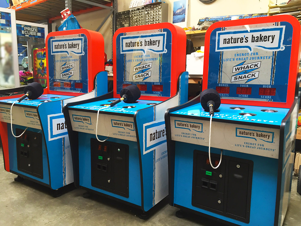 Customized Whac a Mole arcade games by Video Amusement