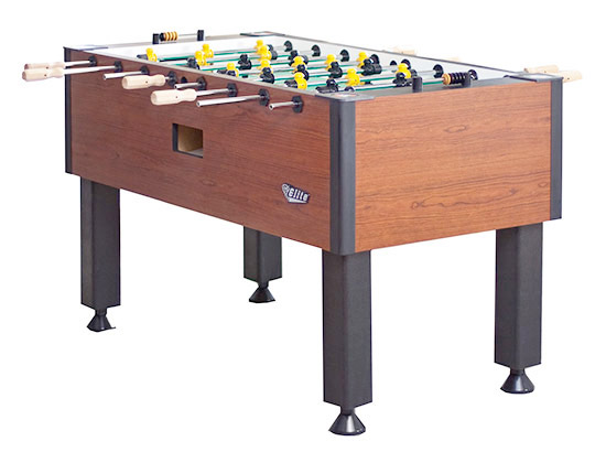 Commercial 4 player Valley Tornado foosball table for rent from Video Amusement