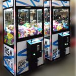 Customized Crane Claw Machine white caranes by Video Amusement