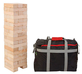 Giant jenga tumble tower game rental San Francisco from Video Amusement