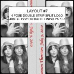 Our Classic photo booths will print layout #7 in color or B&W