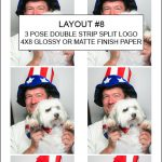 Our Classic photo booth will print layout #8 (3 pose) in color or B&W