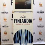 Social Media photo booth wrapped for Finlandia Vodka complete with custom backdrop