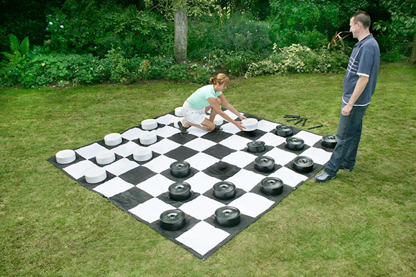 Giant Checkers game rental San Jose