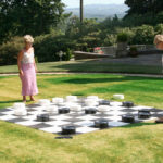 Giant Checkers lawn game rental San Francisco