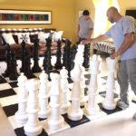 Giant Chess Mega rental game at house party San Francisco