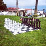 Giant Mega Chess lawn rental game at Marina Green San Francisco Fort Mason