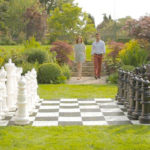 Mega Giant chess outdoor lawn rental game San Jose California from Video Amusement