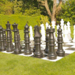 Mega chess outdoor lawn rental game San Jose California Video Amusement