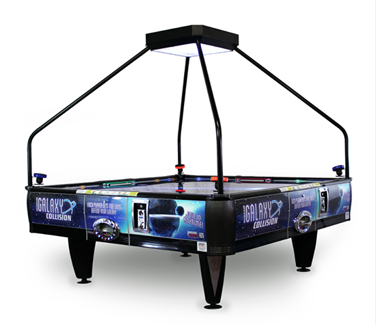 Quad Air 4 player air hockey table game from Video Amusement is available for rent