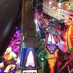 Detail image of WWE pinball left ramp.