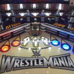 Detail image of wrestling rink in pinball machine.