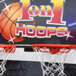 one on one arcade game basketball rental event from Video Amusement