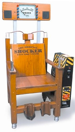 Electric Shocker Chair Carnival Game rental San Francisco from Video Amusement