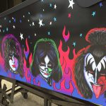 Kiss PRO pinball detailed image of the game cabinet