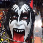 Kiss PRO pinball machine detail of the head