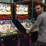 Michael is testing the brand new Kiss pinball machines