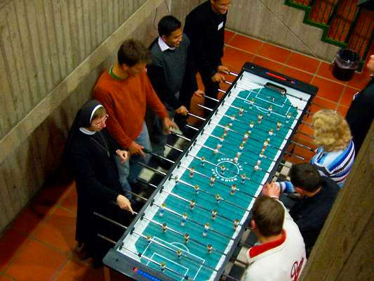 Foosball table for 8 people