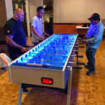 New Garlando LED Lighted foosball table rental San Francisco