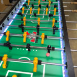 LED Glowing Giant 8 player Tornado Foosball Table Rent San Francisco