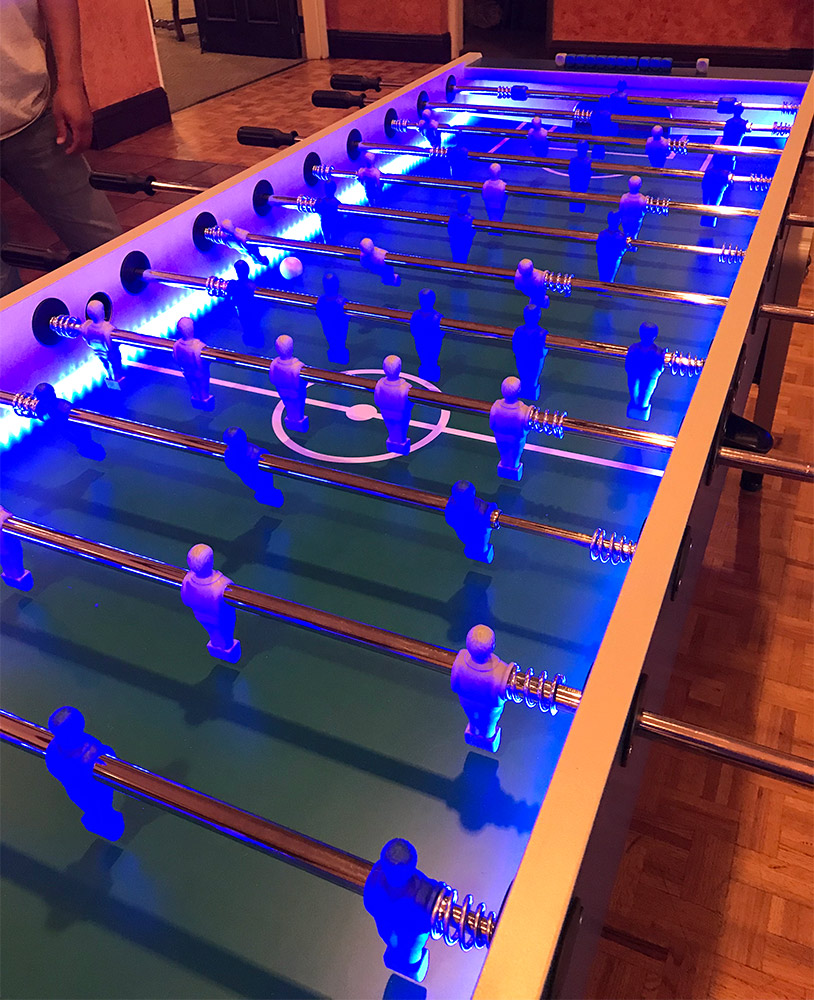Jumbo/Giant LED Lighted Foosball Table Garlando 8 player foosball table for Rent